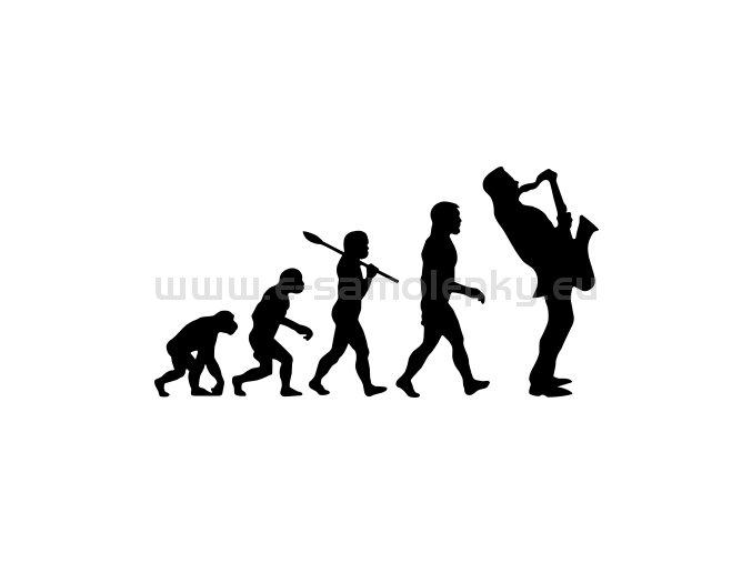 Samolepka - Saxofonista evoluce