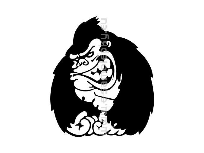 Samolepka - Gorila