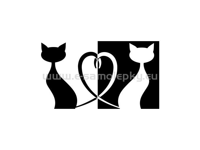 Samolepka - Kočky