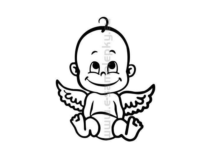 Samolepka - Dítě v autě 06