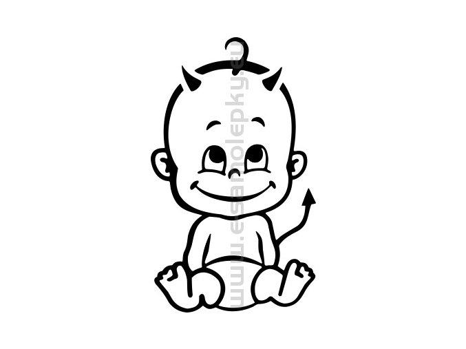 Samolepka - Dítě v autě 07