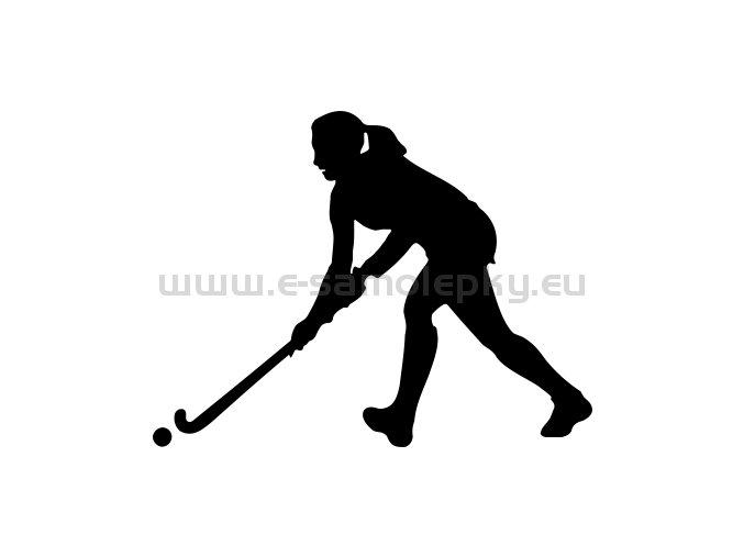 Samolepka - Pozemní hokej- žena 02