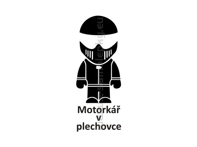 Samolepka - Motorkář v plechovce 02