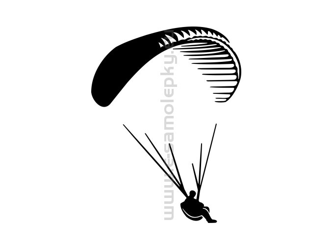 Samolepka - Paragliding 05