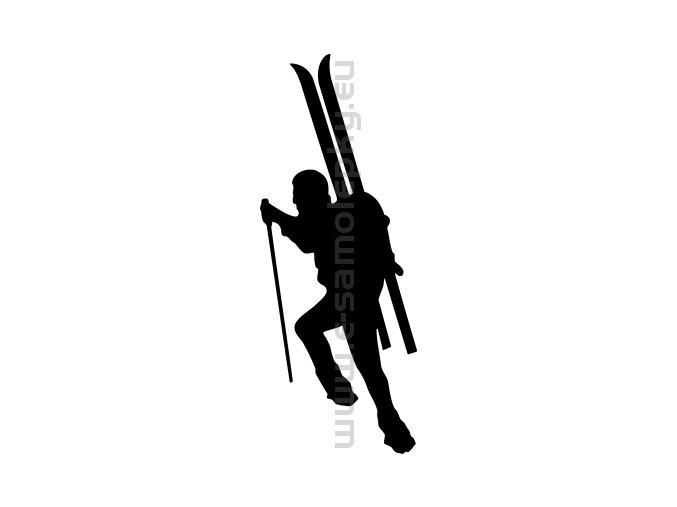 Samolepka - Skialpinista