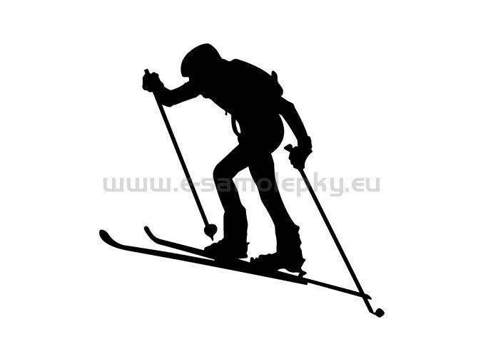 Samolepka - Skialpinista 02