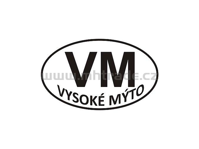 Samolepka - PZ - Vysoké Mýto - VM