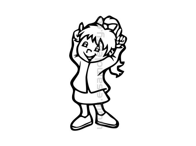 Samolepka - Dítě v autě - Holka 13