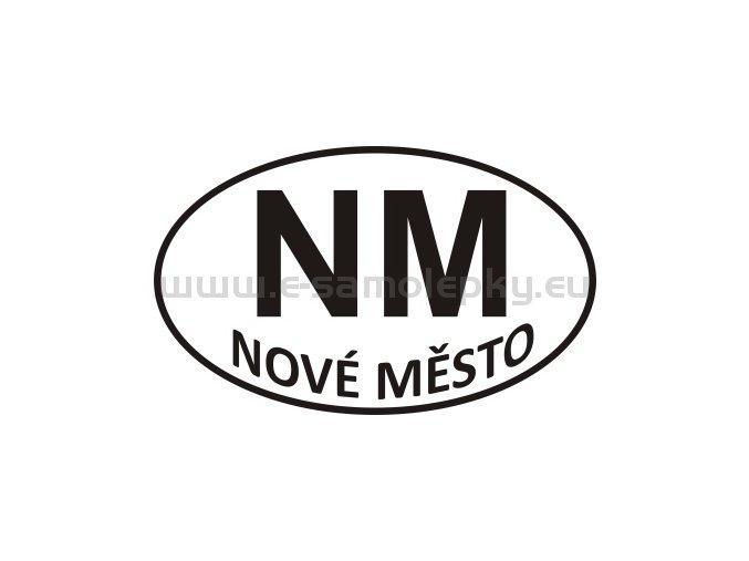 Samolepka - PZ - Nové Město - NM