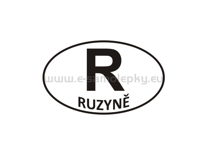 Samolepka - PZ - Ruzyně - R
