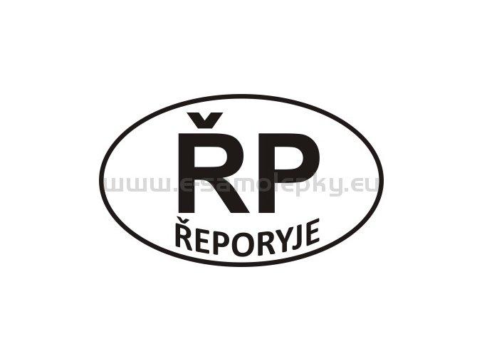 Samolepka - PZ - Řeporyje - ŘP