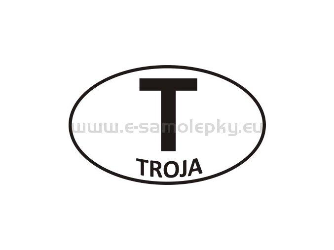 Samolepka - PZ - Troja - T