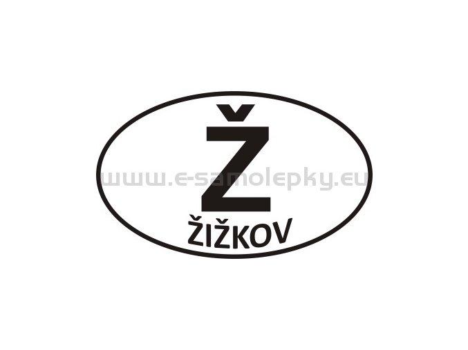 Samolepka - PZ - Žižkov - Ž