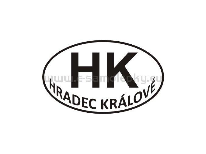 Samolepka - PZ - Hradec Králové - HK