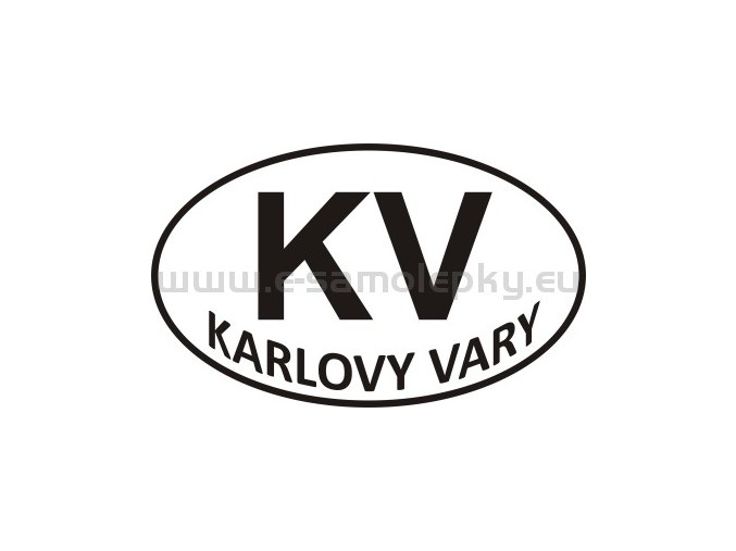 Samolepka - PZ - Karlovy Vary - KV