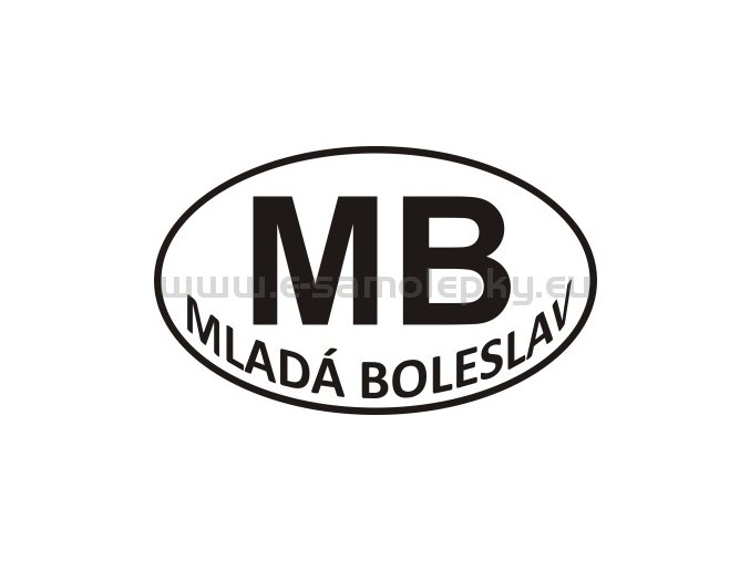 Samolepka - PZ - Mladá Boleslav - MB