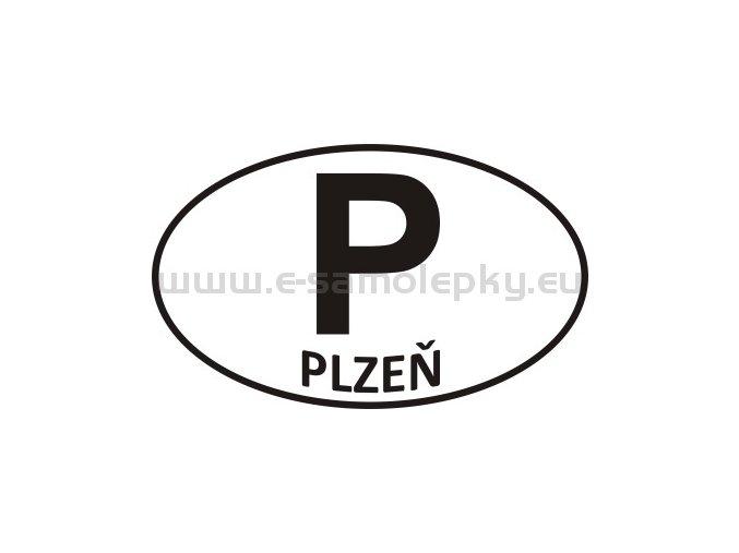 Samolepka - PZ - Plzeň - P