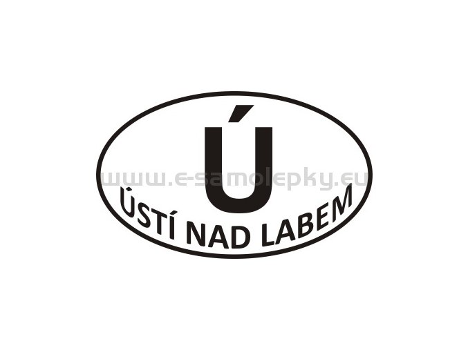 Samolepka - PZ - Ústí nad Labem - Ú