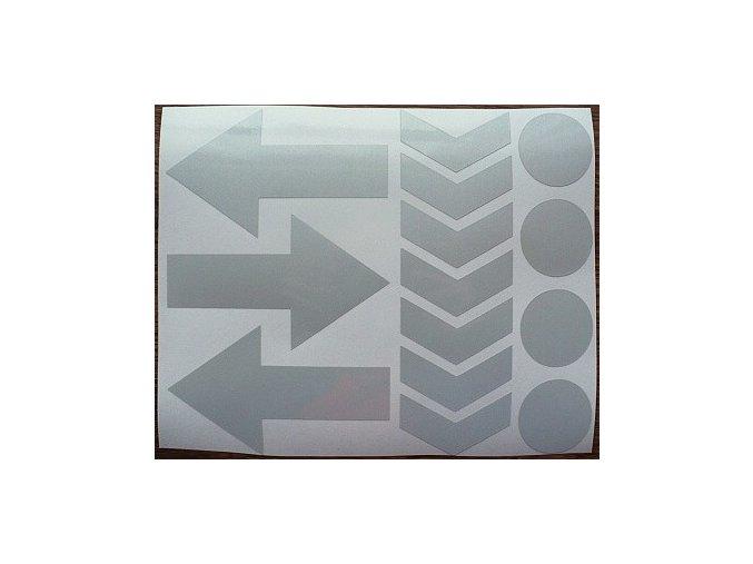 Reflexní tvary 02 - bílé