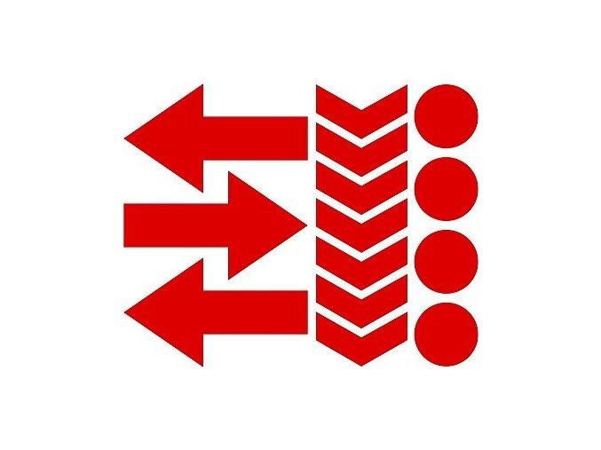 Reflexní tvary 02 - červené