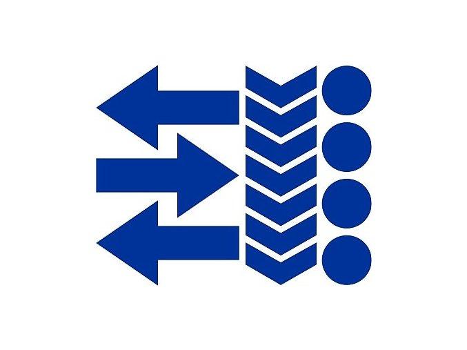 Reflexní tvary 02 - modré