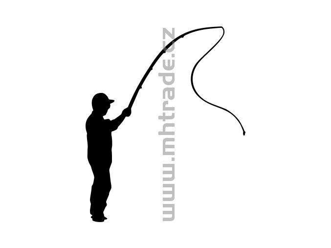 Samolepka - Rybář 14
