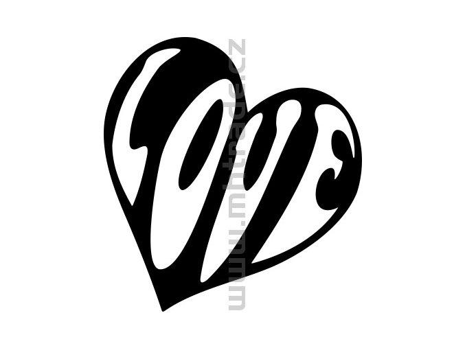 Samolepka - Srdce 03