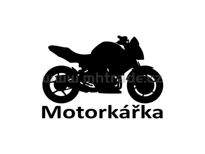 Samolepka - Motorkářka