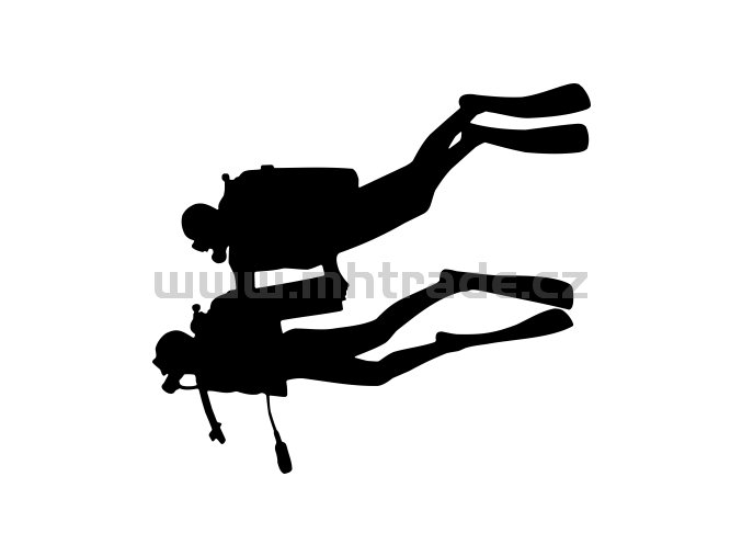Samolepka - Potápěč 14