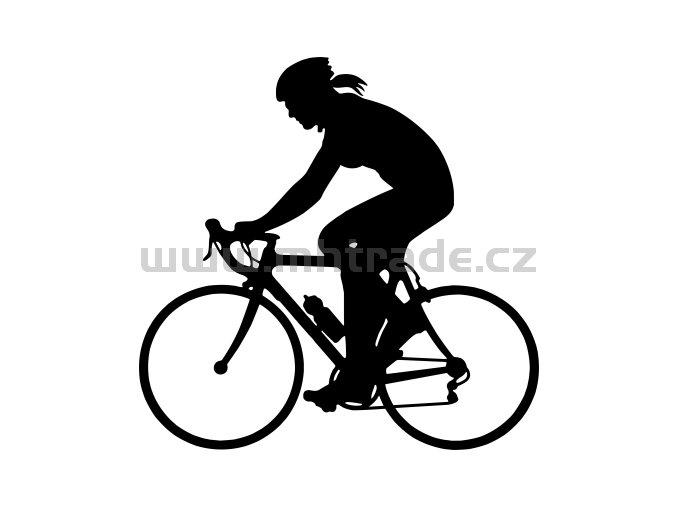 Samolepka - Cyklistka 04