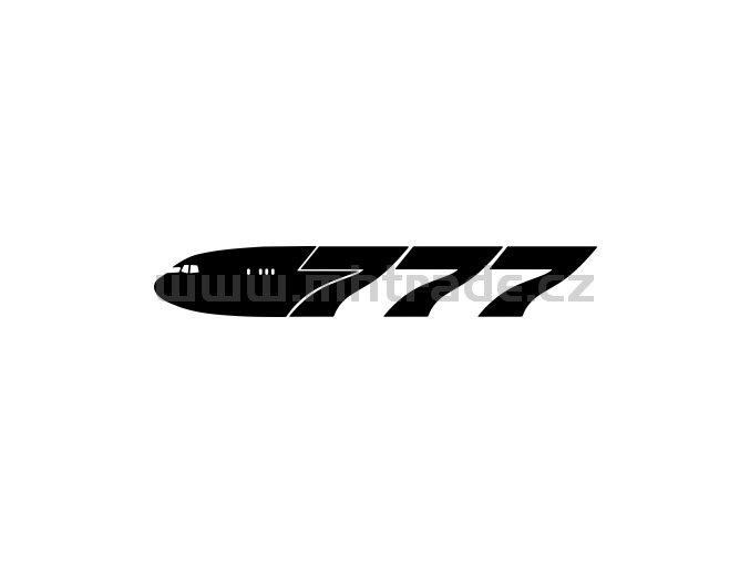 Samolepka - Letadlo Boeing 777