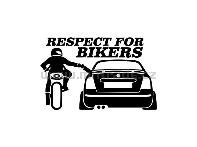Samolepka - Respect for bikers