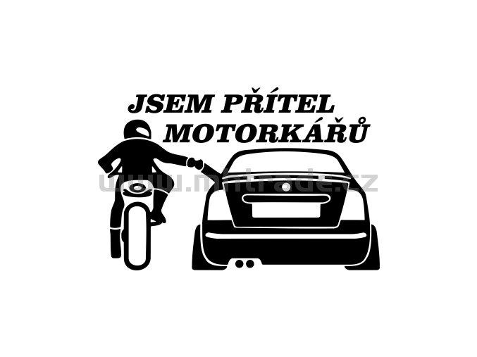 Samolepka - Jsem přítel motorkářů