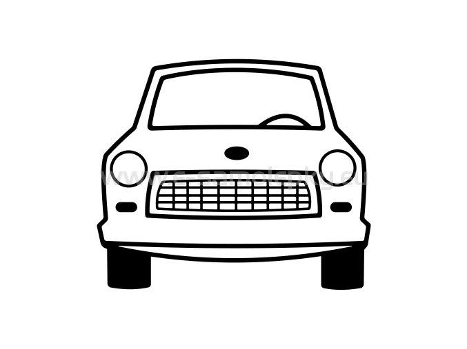Samolepka - Trabant