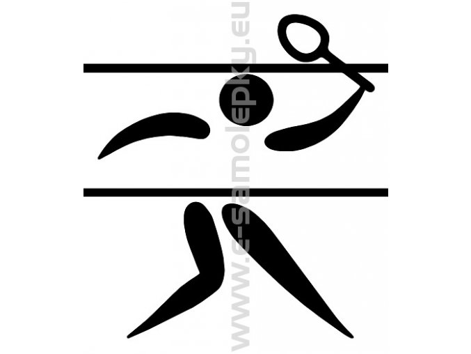 Samolepka - Badminton