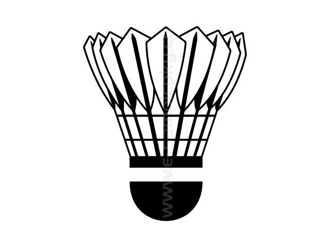 Samolepka - Badmintonový míček