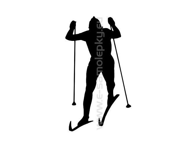Samolepka - Běžkař