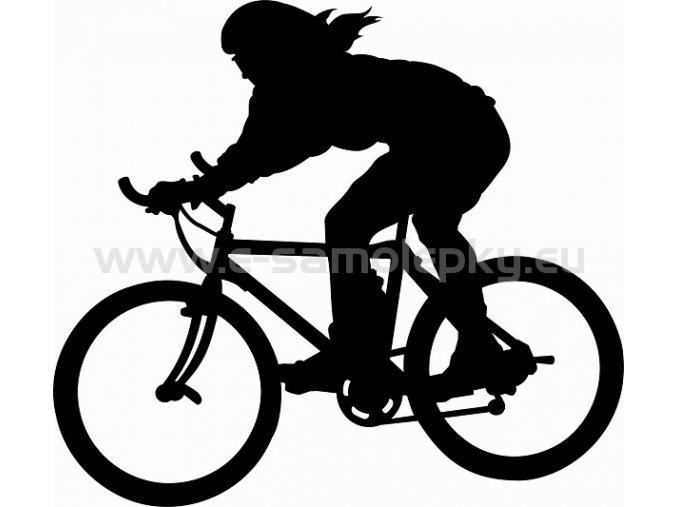 Samolepka - Cyklistka