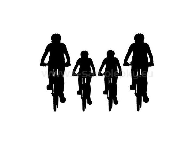 Samolepka - Cyklo rodinka