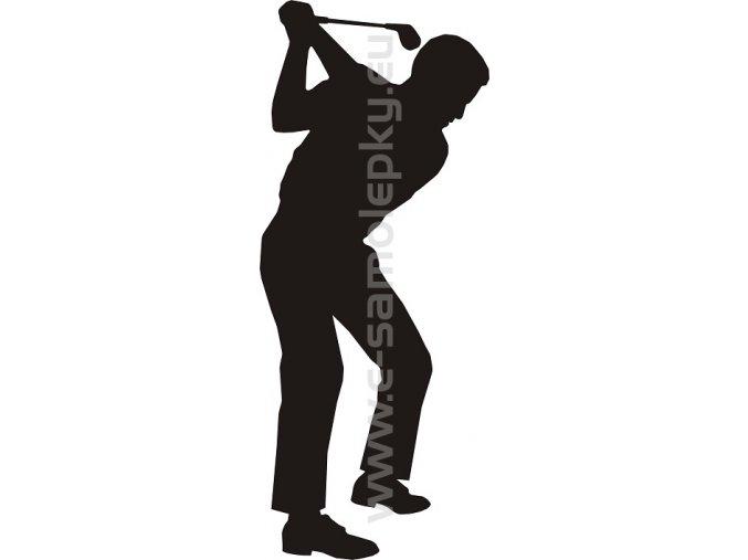 Samolepka - Golfista 03