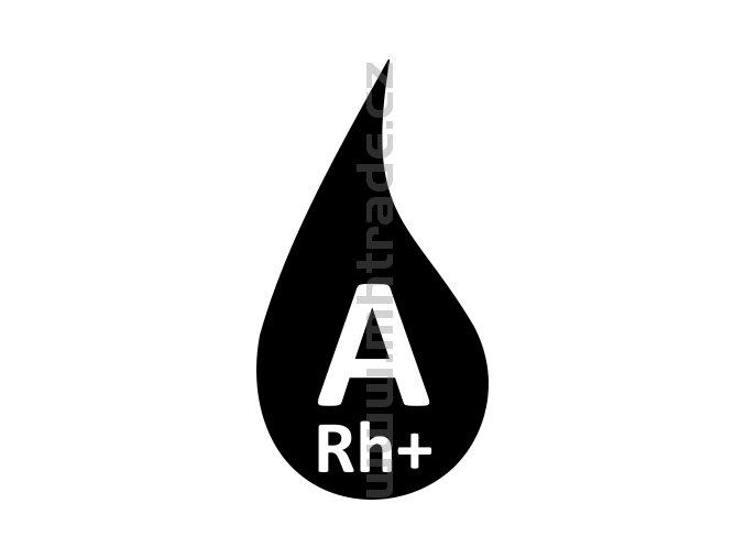 Samolepka - Krevní skupina A+