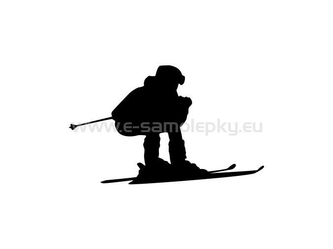 Samolepka - Lyžař 05
