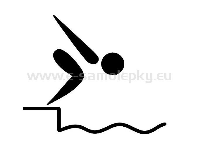 Samolepka - Plavání