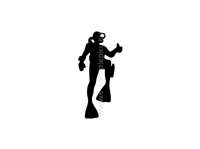 Samolepka - Potápěč 02