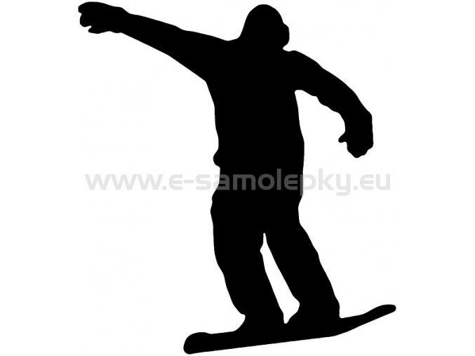 Samolepka - Snowboardista 05