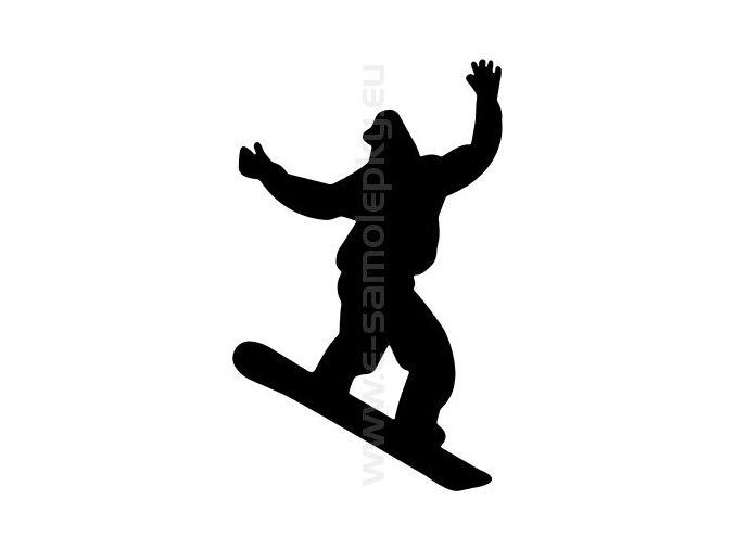 Samolepka - Snowboardista 08