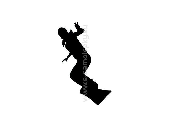 Samolepka - Snowboardistka