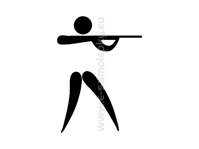 Samolepka - Střelba 04