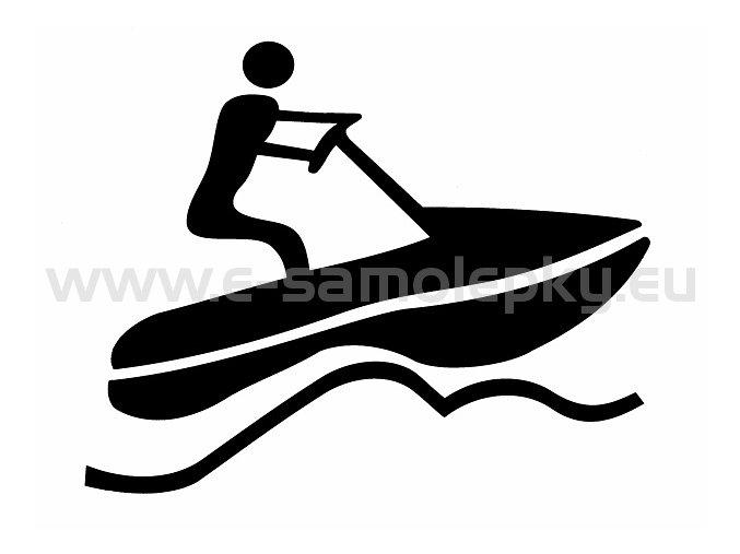 Samolepka - Vodní skůtr