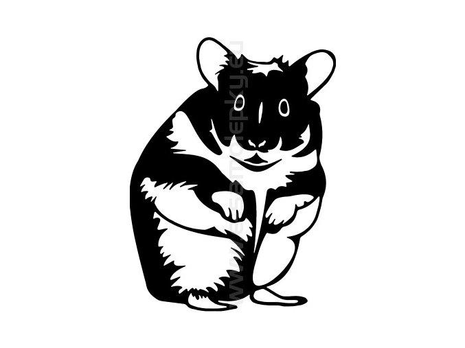Samolepka - Křeček